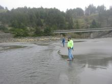 Meyers Creek with my colleagues Geographer John and the young Jimmy
