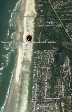 Map of Western Snowy Plover nest location