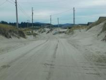Sand District portion of Oceania Drive paralleling Mile 202
