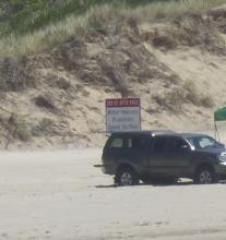 sign showing legal vehicle area