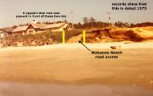 1975 picture of the two properties north of the Wakonda Beach Access