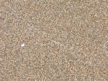 Unusually white sand