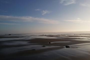 Low tide, facing ocean, mile 209
