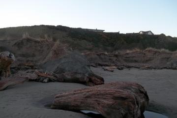 More beach erosion