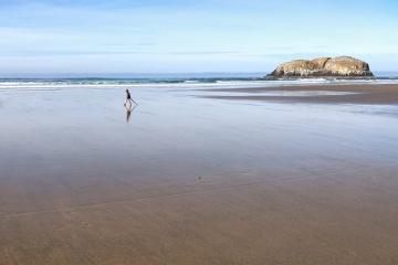 Rising tide on North Chapman Beach.