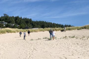 Games at the beach - North Chapman Beach.