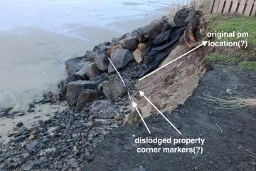 significant loss of Wakonda Beach access and some of the south end of the armoring project