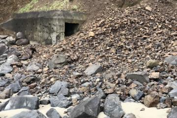 Landslide closeup.