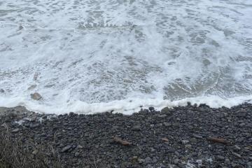 No beach on Ocean Beach