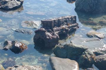Another chunk of machine in tidepool