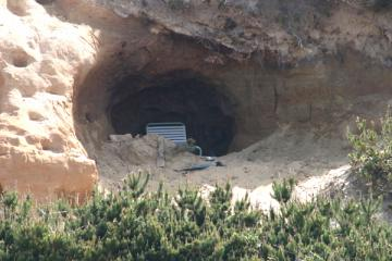 Eroding caves north of Nordic Inn