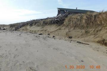 Erosion at tip of Alsea Spit