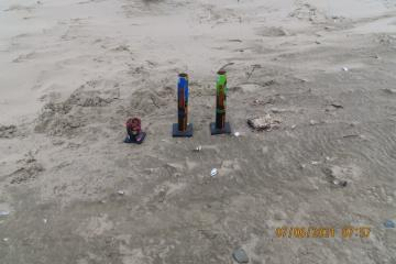 Firework Trash left on beach