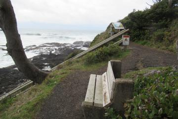 Bench at the north end of Mile 190