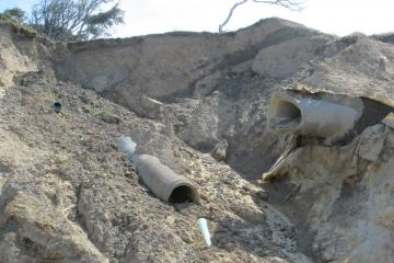 Increase of erosion of pipes.