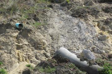 New set of pipes seen from erosion.