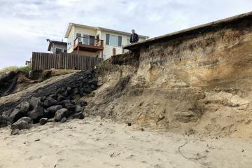 Wakonda Beach beach access restored to allow trucks and equipment onto the beach