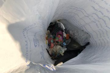 bag of garbage/small debris