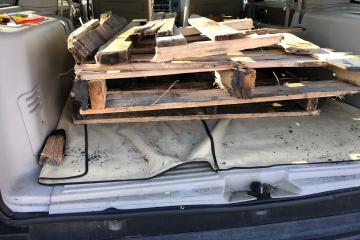 pallets & treated wood debris