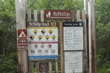 McPhillip's Park sign.