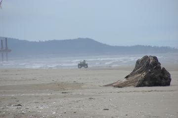 This ATV was on the beach immeadiately west of the large sign that clearly indicated that this was illegal.