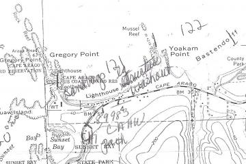 Map of where the sandbags and large structure washout were on Mile 121.