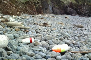 Some more crab pot floats and rope that washed up on the beach in Cape Cove.