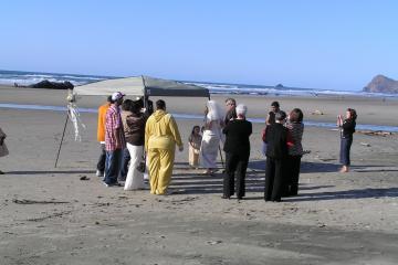 On-the-beach wedding
