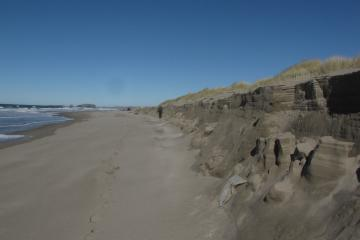 Dave is standing at the north end of this long riptide embayment erosion.