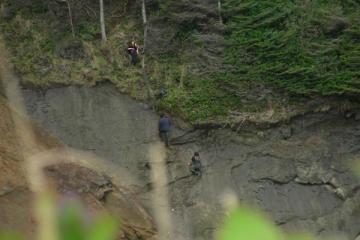 These climbers were violating Park rules by climbing on the cliff face and using a hammer to make holds.