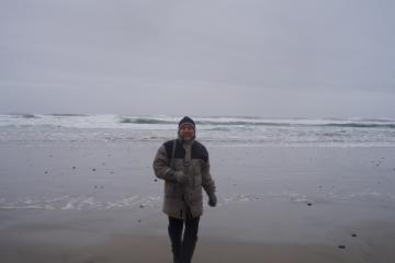 Brrrrrrr. it was a cold day at the beach, but once you start going you get lost in the beauty.