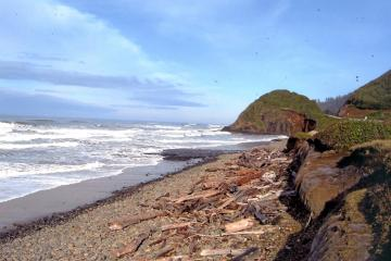 South Section looking north.Note erosion approaching Hwy. 101
