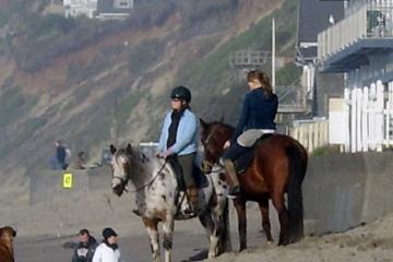 Horse riders on he beach