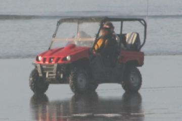 This ATV was seen yesterday on the beach and went up and down the beach today at least a half-dozen times with different operators and riders.