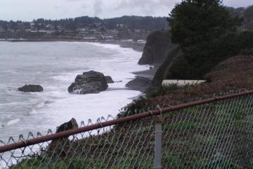 high tide at Beginning of mile 3