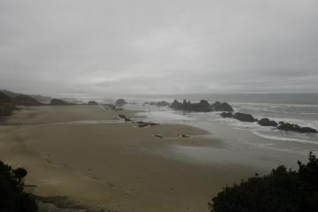 looking south from Seal Rock state park