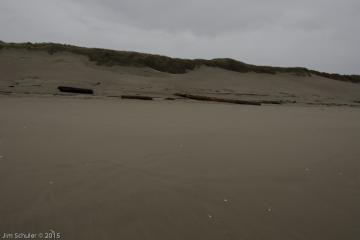 Smooth beach from waterline to Dunes. About 1/4 mile north of lot 3 entrance