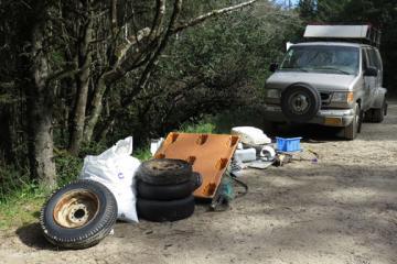 Collecting Debris state van #2