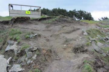 View of erosion below overlook