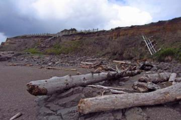 More erosion of bluff along Ocean View Drive