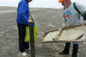 Glad I had some help carrying these large items off the beach today!