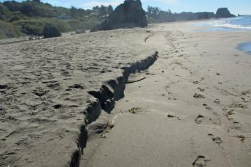 Mile 7, Seasonal beach erosion at mid-mile
