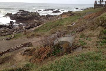 Erosion at overlook Yachats State Park.