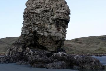 Needle rock is usually in the tideline and can't access the west side.