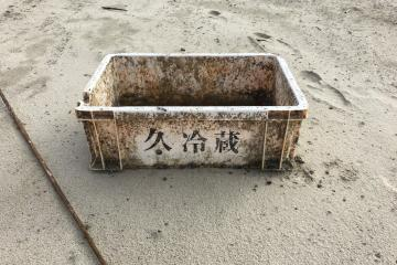 Clearly identifiable Japanese characters on representative debris