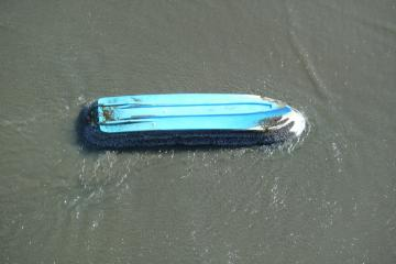 Closer view of boat heading in
