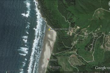 google map site, Coos County, Fivemile Creek, north Sacchi Beach