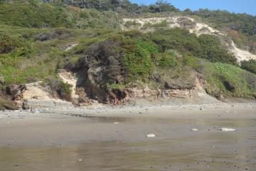 closer view of eroding cliff
