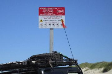 The new sign was about 1/4 mile south of our mile. The farthest south we have ever seen it.