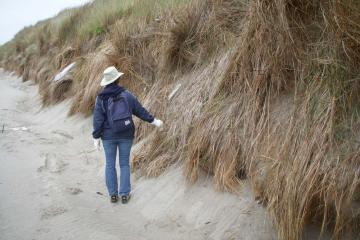 Typical dune erosion on southern quarter of Mile 105